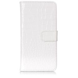 iPhone X - Plånboksfodral - Krokodil mönstrad vit
