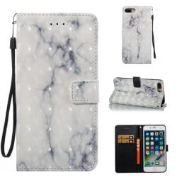 GadgetMe Plånboksfodral för Samsung Galaxy S7 - Marmor vit/grå