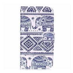 GadgetMe Plånboksfodral skal Samsung Galaxy S3 Mini - Elefanter