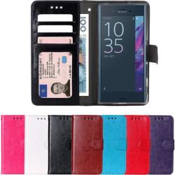 GadgetMe Plånboksfodral Sony Xperia X Performance svart