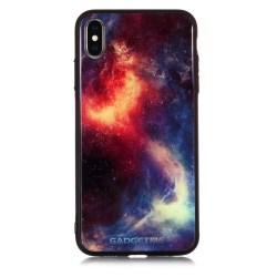 Galaxer iPhone X/Xs skal rymd röd
