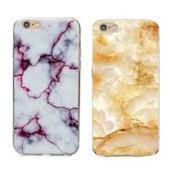iPhone 6/6S Marmor Baksideskal röd