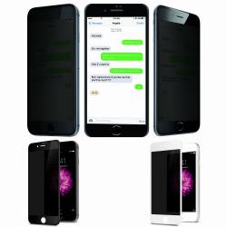 iPhone 6/6S Plus Privacy Skärmskydd - Härdat Glas svart