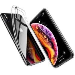 iPhone Xs Max - Slimmat genomskinligt skal transparent