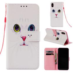 Katt iPhone X/Xs Plånboksfodral katt