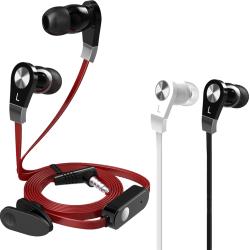 Langsdom In-Ear Hörlurar JM02 - Mikrofon & Multikontroll 3.5mm vit