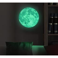 Måne - Lyser i mörkret -väggdekal