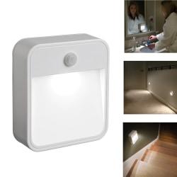 Nattlampa LED med rörelsesensor vit