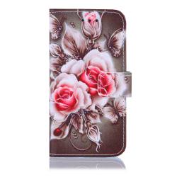 GadgetMe Plånboksfodral iPhone 6/6s/7/8 Röda rosor