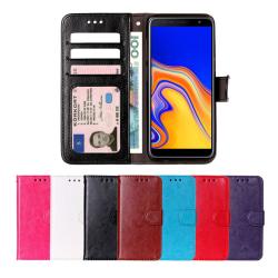 Samsung J4 Plus - Plånboksfodral svart