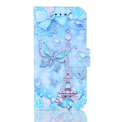 GadgetMe Plånboksfodral iPhone 6/6s/7/8 Silvrigt Eiffeltorn
