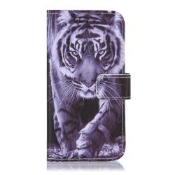 GadgetMe Plånboksfodral iPhone 6/6s/7/8 Svart/Vit Tiger