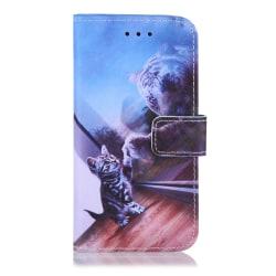GadgetMe Plånboksfodral iPhone 6/6s/7/8 Tiger