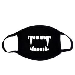 Ansiktsmask - Svart - Vampyr - Maskerad Svart one size