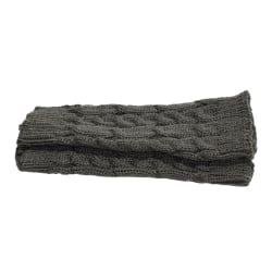 Armvärmare stickade, fingerlösa & korta - Mörkgrå [20cm] - Handl Mörkgrå