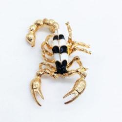 Brosch - Svart skorpion [Guld] Svart
