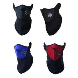 Svart cykelmask - Skidmask - Ansiktsmask - MC-mask - Ninja Svart one size