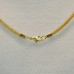 Halsband - Dubbelpack - Guld - 45cm längd - 3mm tjocklek Guld 45 cm