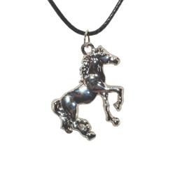 Halssmycke - Silver häst  - 42cm halsband Metall utseende