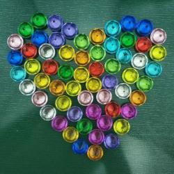 Kylskåpsmagnet - Diamantformad akryl - 12st multifärg