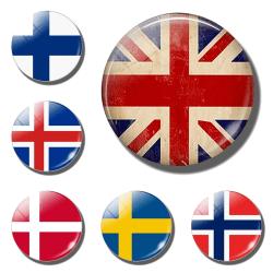 Kylskåpsmagnet - Dubbelpack - Flagga MultiColor Sverige