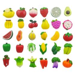 Kylskåpsmagnet - Frukter, grönsaker & bär - 5 st multifärg