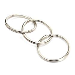 Nyckelring - 25mm diameter - Multipack - 10st Metall utseende