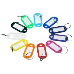 Nyckelring med namnbricka [Oval] - 10-pack multifärg
