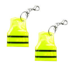 Reflex - Säkerhetsväst - Gul med svarta ränder - Dubbelpack