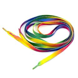 Skosnören - Regnbåge - Platta [110 cm] multifärg one size