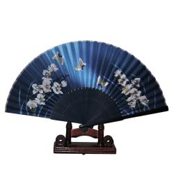 Solfjäder - Fjärilar med blommor [M5] - Blå Blå