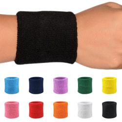 Svettband - Vristband - Korta [8cm] - Dubbelpack Svart
