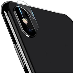2-PACK-CRYSTAL GUARD IPHONE X/XS KAMERALINSSKYDD 0.15MM Transparent