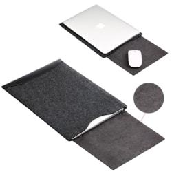 Datorfodral med Läder & Filt till 13 & 15 tums-datorer Black Macbook Pro 13 tum (2016-2020)