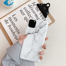 iPhone 11 skal marmor Vit
