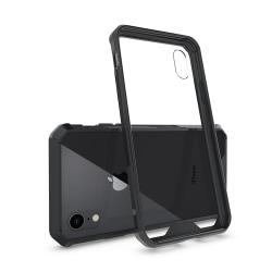 iPhone XS Max | Bumperskal i Hård Plast och Genomskinlig Baksida Transparent