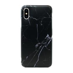 iPhone XS Max | Mjukt, Svart Marmorskal Svart