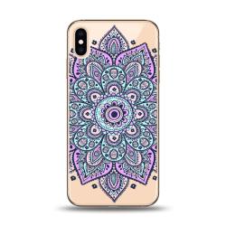 iPhone XS Max | Mjukt, Transparent Skal med Blå Mandala Transparent