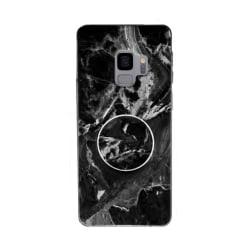Marmorskal med mobilhållare till Samsung Galaxy S9 + Svart