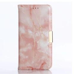 iPhone X/XS |Plånboksfodral med Marmormönster, Flera Färger Rosa
