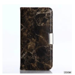 iPhone X/XS |Plånboksfodral med Marmormönster, Flera Färger Svart