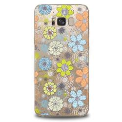 Samsung Galaxy S8 - Blommor Mobilskal Mjukt Transparent
