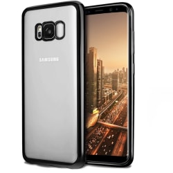 Samsung Galaxy S8 | Mjukt, Genomskinligt Skal med Svart Kant Transparent