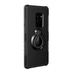 Samsung Galaxy S9 + | Hårt, Svart Skal med Magnet och Ringhållar Svart