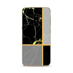 Samsung Galaxy S9 + | Mjukt Marmorskal! Svart