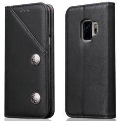 Exklusiv mobilplånbok till Samsung Galaxy S9 + Svart