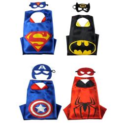 Avengers capes/ögonmasker 4-PACK