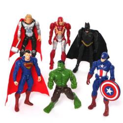 AVENGERS Superman, Batman, Hulken (6st /set) Superhjältar