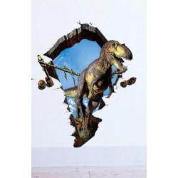 Dinosauriedekor /Jurrasic - Väggdekor/ sticker i 3D , 90x60 cm