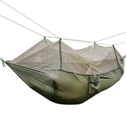 Flying tent, träd tält, hängmatta med myggnät 2 pers. Grön